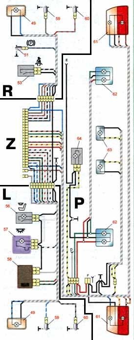 1 - блок-фары; 2 - датчики
