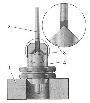 Рис. 23. Приспособление для разборки игольчатого клапана поплавкового механизма