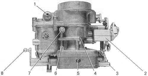 Рис. 5. Вид на карбюратор со стороны второй камеры