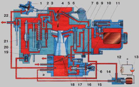 Чертеж карбюратора К-131